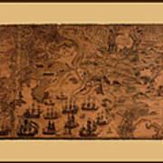 Map Of Cape Breton 1764 Art Print