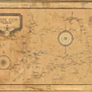 Map Of Cape Cod 1931 Art Print