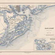 Map Of Charleston Art Print