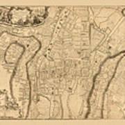 Map Of Cork 1771 Art Print