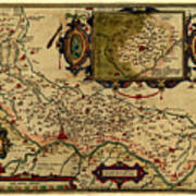 Map Of Cremona 1579 Art Print