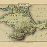Map Of Crimea 1815 Art Print
