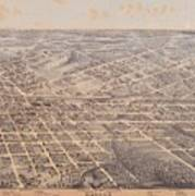 Map Of Dallas 1872 Art Print