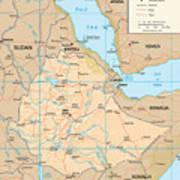 Map Of Ethiopia Art Print