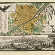 Map Of Florence 1731 Art Print