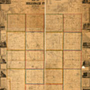 Hillsdale County Michigan Map.Map Of Hillsdale County Michigan 1857 Mixed Media By Design Turnpike