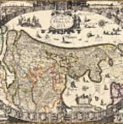 Map Of Holland 1630 Art Print