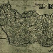 Map Of Ireland 1771 Art Print