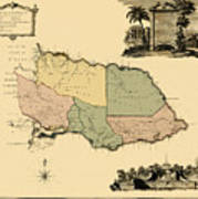 Map Of Jamaica 1763 Art Print