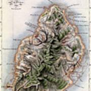 Map Of Mauritius Art Print