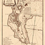 Map Of Monaco 1764 Art Print