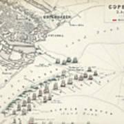 Map Of The Battle Of Copenhagen Art Print
