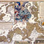Map Of The Christmas Flood Of 1717 Art Print