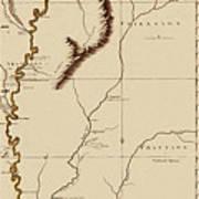 Map Of The Mississippi Riverr 1775 Art Print
