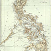 Map of the philippines drawing by american school map of the philippines poster publicscrutiny Images