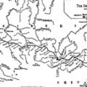 Map Of The Trans-siberian Railway Art Print