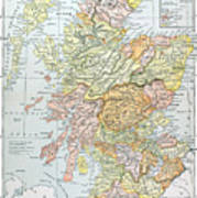 Map: Scotland Art Print