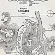 Map Showing The Site Of The Siege Of Art Print