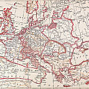 Map: Thirty Years War Art Print