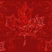 Maple Leaf Filigree Pattern Art Print