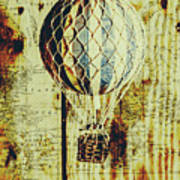Mapping A Hot Air Balloon Art Print