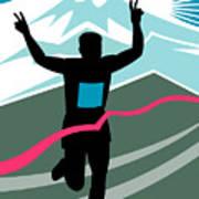 Marathon Race Victory Art Print by Aloysius Patrimonio