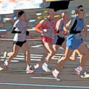 Marathon Runners II Art Print