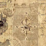 Marauder\'s Map Canvas Print / Canvas Art by Midex Planet