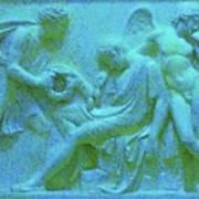 Marble Angel Relief Art Print