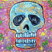 Marble Skull  Art Print