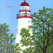 Marblehead Lighthouse Painting Art Print