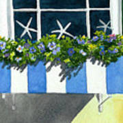 Marblehead Planter Box Art Print