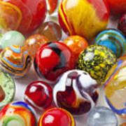 Marbles Close Up Art Print