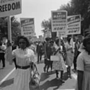 March On Washington. African Americans Art Print by Everett