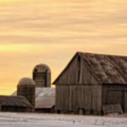 March Sunrise On The Farm Art Print