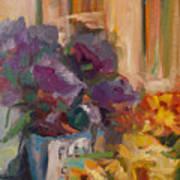 Marche' Aux Fleurs Art Print