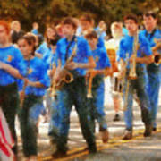 Marching Band - Junior Marching Band  Print by Mike Savad