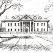 Marcus Daly Mansion Hamilton Montana Art Print
