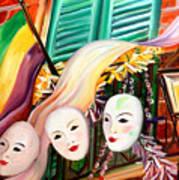Mardi Gras Balcony Art Print
