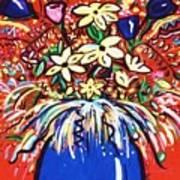 Mardi Gras Floral Explosion Art Print