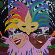 Mardi Gras In Colour Art Print