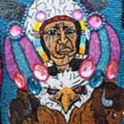 Mardi Gras Indian Apron Detail Art Print