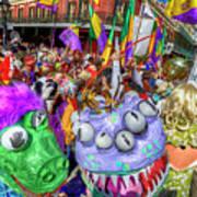 Mardi Gras Mob Art Print