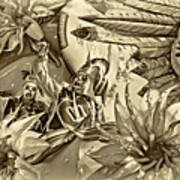 Mardi Gras - New Orleans 3 - Sepia Art Print