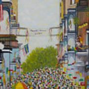 Mardi Gras On Bourbon Street Art Print