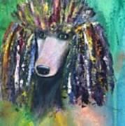 Mardi Gras Poodle Art Print