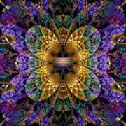 Mardi Gras Split Crop Art Print