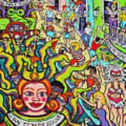 Mardi Gras - Throw Me Something Mister Art Print