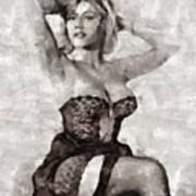 Margaret Nolan, Carry On Actress Art Print