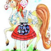 Maria Do Ribatejo Art Print